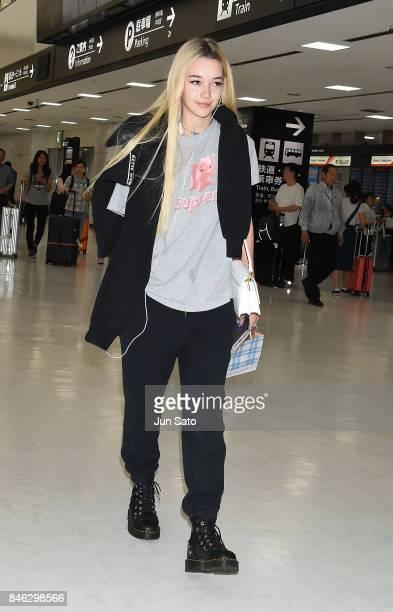 Sarah Snyder arrives at Narita International Airport on September 13 2017 in Narita Japan