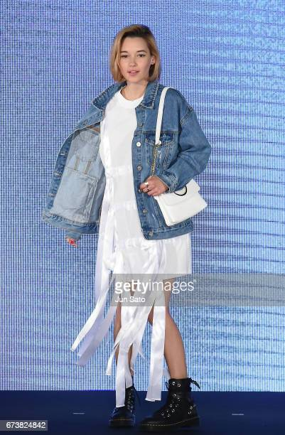 Sarah Snyder attends the Samantha Thavasa Millennial Stars Fashion Event on April 27 2017 in Tokyo Japan