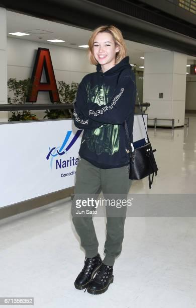 Sarah Snyder is seen at Narita International Airport on April 22 2017 in Tokyo Japan