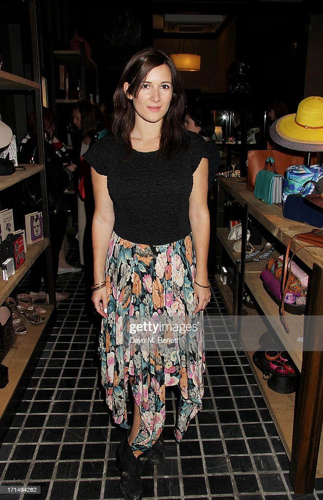 Sarah Solemani attends an exclusive preview of the 'Thomas Campbell Paints Lily and Lionel' collection of wearable art, in association with the English National Ballet, at CoutureLab on June 25, 2013 in London, England.