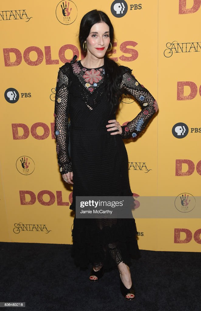 Sarah Sophie Flicker attends the 'Dolores' New York Premiere at The Metrograph on August 21, 2017 in New York City.