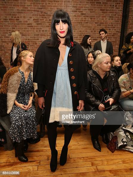 Sarah Sophie Flicker attends Ulla Johnson Front Row during New York Fashion Week on February 9 2017 in New York City