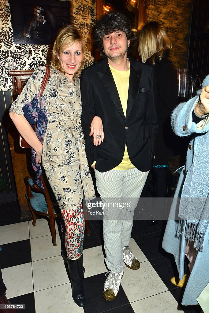 Sarah Steinitz and Gregori Erman from June Sex band attend 'La Dance des Coincidences' Party At The Favella Chic on March15, 2013 in Paris, France.