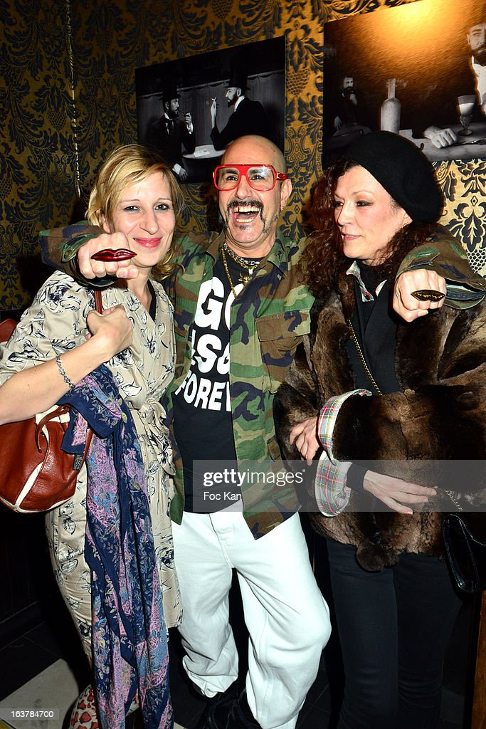Sarah Steinitz from June Sex band, Claude Sabbah and Gregori Erman from June Sex band attend 'La Dance des Coincidences' Party At The Favella Chic on March15, 2013 in Paris, France.