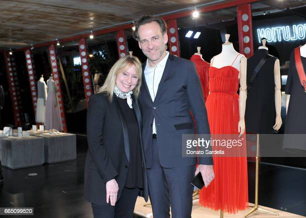 Sarah Stewart and Christian Dior Couture and Parfums Christian Dior President and CEO of North America Renaud de Lesquen attend DIOR SS17 Collection...