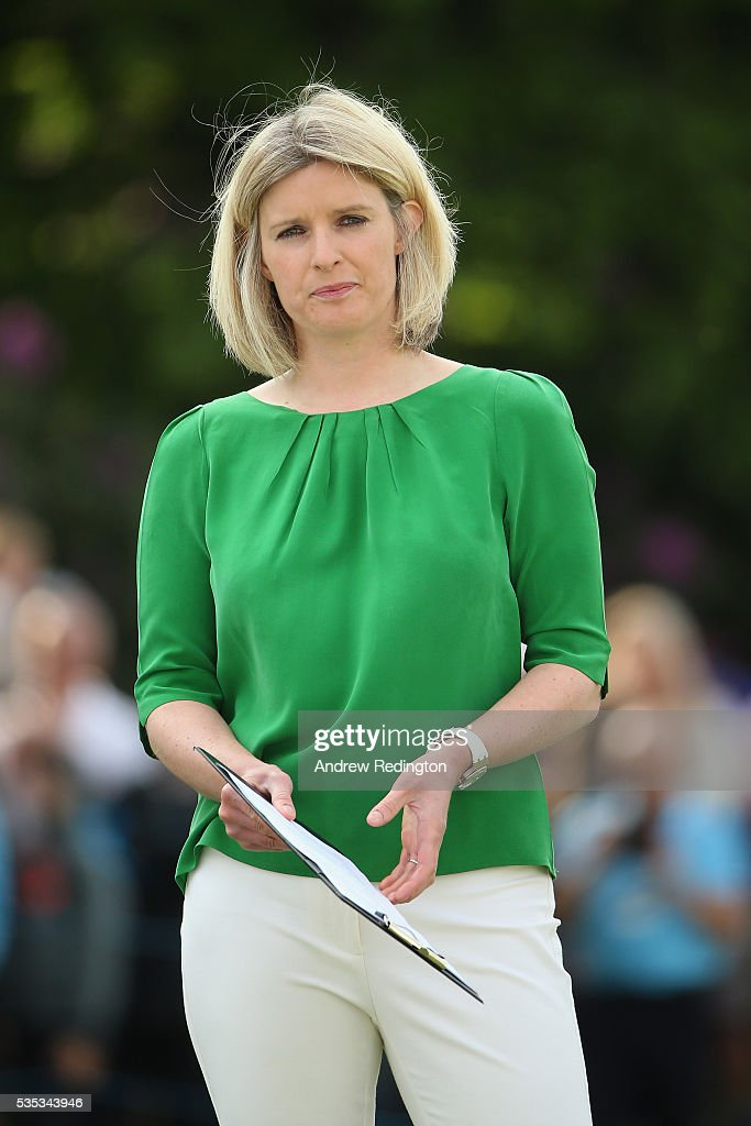 Sarah Stirk looks on during day four of the BMW PGA Championship at Wentworth on May 29, 2016 in Virginia Water, England.
