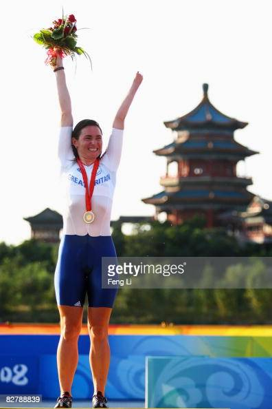 Sarah Storey of Great Britain wins the Gold in the Road Cycling Women's Time Trial at the Triathlon Venue during day six of the 2008 Paralympic Games...