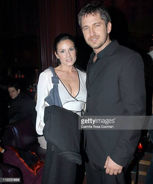 Sarah Sullivan and Gerard Butler during The Opening of Gypsy Tea Lounge at Gypsy Tea Lounge in New York City New York United States