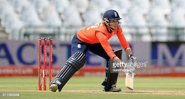 Sarah Taylor of England bats during the 2nd T20 International match between South Africa Women and England Women at Newlands on February 19 2016 in...
