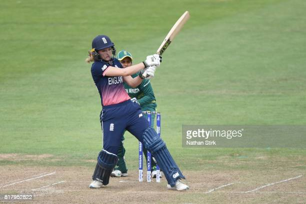 Sarah Taylor of England batting during the SemiFinal ICC Women's World Cup 2017 match between England and South Africa at The Brightside Ground on...