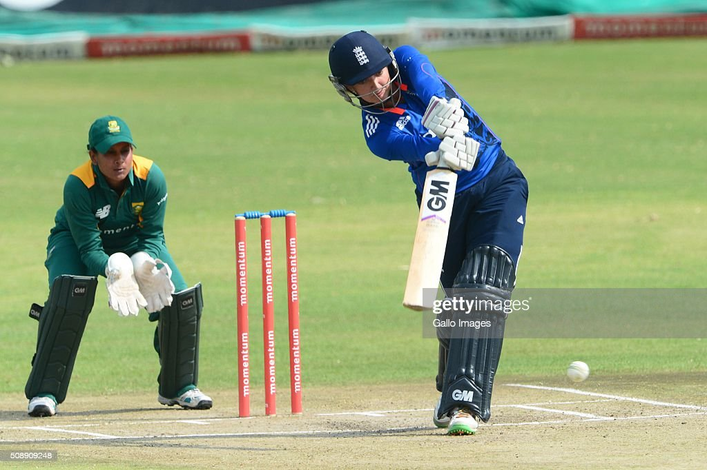 Sarah Taylor of England during the One Day International match between South African Women and England Women at Willowmoore Park on February 07, 2016 in Benoni, South Africa.