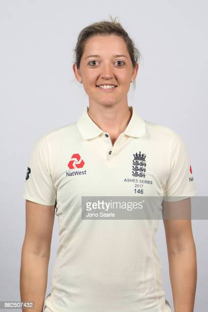 Sarah Taylor poses during the England women's Test headshots session on October 13 2017 in Brisbane Australia
