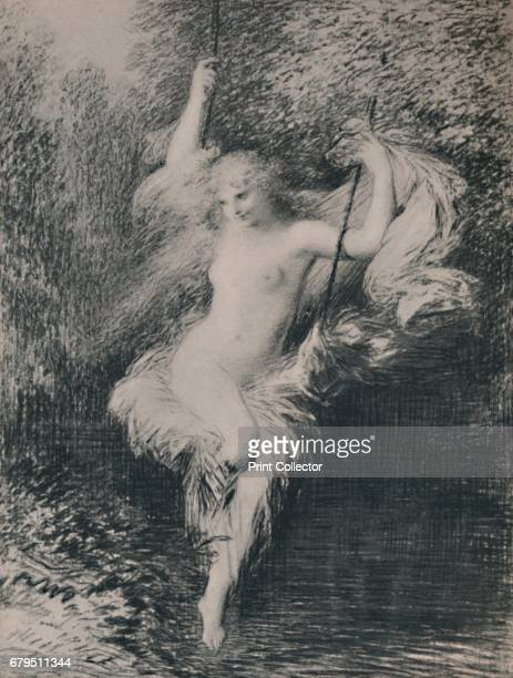 Sarah the Bather' Print after a painting of the same name 'Sara la Baigneuse' 1887 From The Etchings of the French Impressionists and Their...