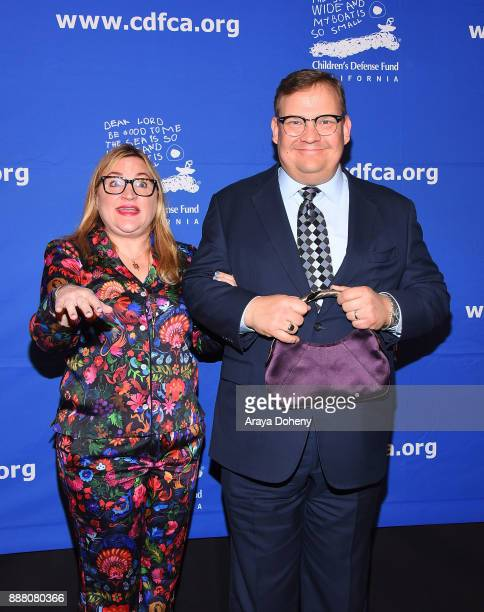 Sarah Thyre and Andy Richter attend the Children's Defense FundCalifornia's 27th Annual Beat The Odds Awards at the Beverly Wilshire Four Seasons...
