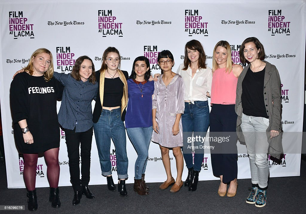 Sarah Thyre Ellen Page Kaitlyn Dever Molly Ephraim Charlyne Yi Rosemarie DeWitt Collette Wolfe and Kristen Schaal attend the Film Independent At...