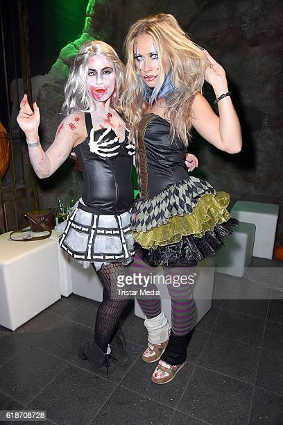 Sarah Tkotsch and her sister Sina Tkotsch attend the Halloween party by Natascha Ochsenknecht at Berlin Dungeon on October 27 2016 in Berlin Germany