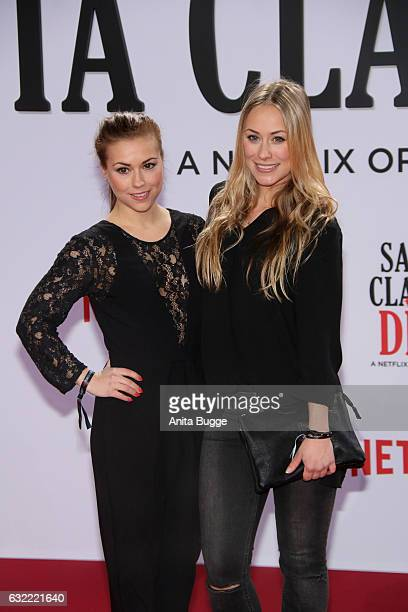 Sarah Tkotsch and Sina Tkotsch attend the 'Santa Clarita Diet' special screening at CineStar on January 20 2017 in Berlin Germany