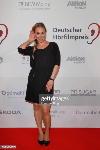 Sarah Tkotsch attends the Deutscher Hoerfilmpreis at Kino International on March 21 2017 in Berlin Germany
