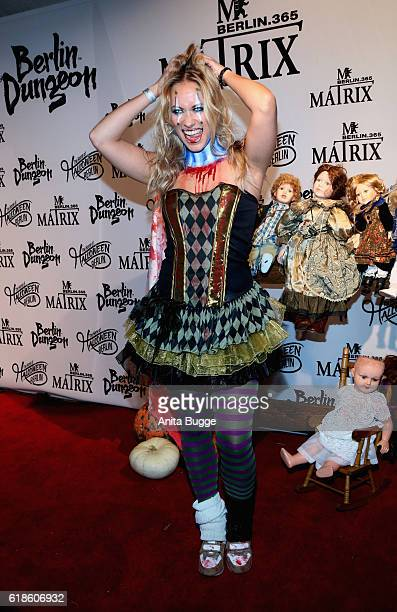 Sarah Tkotsch attends the Halloween party by Natascha Ochsenknecht at Berlin Dungeon on October 27 2016 in Berlin Germany