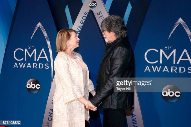 Sarah Trahern and Randy Owen attend the 51st annual CMA Awards at the Bridgestone Arena on November 8 2017 in Nashville Tennessee