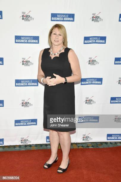 Sarah Trahern of CMA arrives at the 2017 Nashville Business Journal Women In Music City on October 17 2017 in Nashville Tennessee
