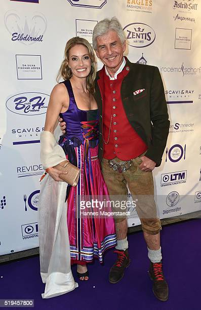 Sarah Valentina Winkhaus and Frederic Meisner during the 'EAGLES Fashion Dinner' at Nockherberg on April 6 2016 in Munich Germany