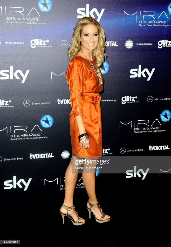 Sarah Valentina Winkhaus arrives for the Mira Awards ceremony at e-Werk on January 26, 2012 in Berlin, Germany.