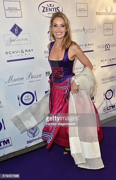 Sarah Valentina Winkhaus during the 'EAGLES Fashion Dinner' at Nockherberg on April 6 2016 in Munich Germany