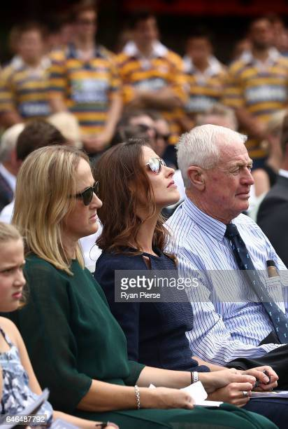 Sarah Vickerman the widow of Dan Vickerman looks on during the Public Memorial for former Australian Rugby Union player Dan Vickerman at Sydney...