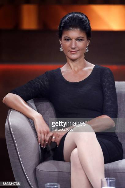 Sarah Wagenknecht during 'Mensch Gottschalk Das bewegt Deutschland' TV Live Show from Berlin at Studio Berlin Adlershof on May 28 2017 in Berlin...