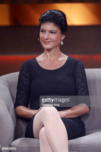 Sarah Wagenknecht during 'Mensch Gottschalk Das bewegt Deutschland' TV Live Show from Berlin at Studio Berlin Adlershof on May 28 2017 in Berlin...