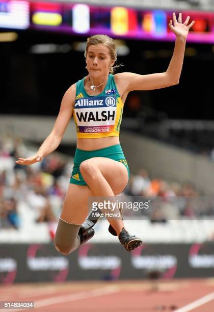 Sarah Walsh of Australia competes in the Women's Long Jump T44 Final during Day Two of the IPC World ParaAthletics Championships 2017 at London...
