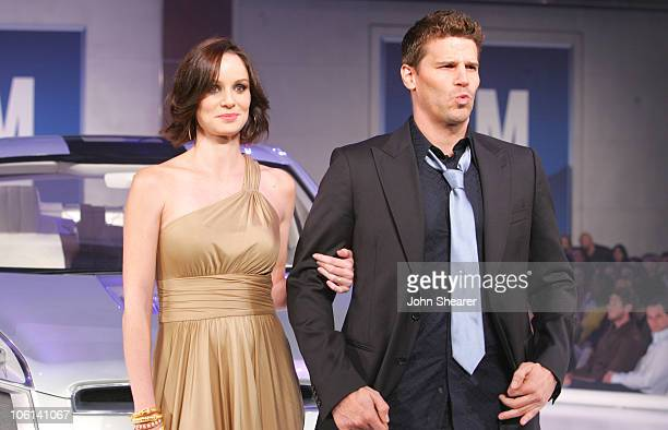Sarah Wayne Callies and David Boreanaz during 6th Annual GM Ten Show in Los Angeles California United States