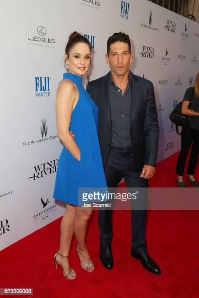 Sarah Wayne Callies and Jon Bernthal arrive at the Wind River Los Angeles Premiere Presented in Partnership with FIJI Water at Ace Hotel on July 26...