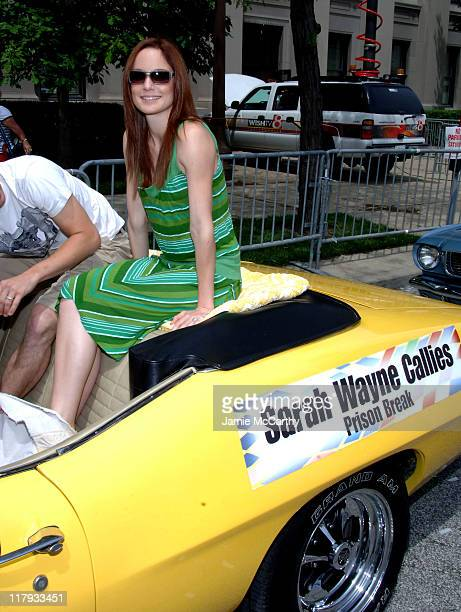Sarah Wayne Callies during 90th Running of The Indianapolis 500 The Indy 500 All Star Festival Parade in Indianapolis Indiana United States