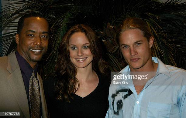 Sarah Wayne Callies Travis Fimmel during The WB Presentation at Television Critics Association Inside at Renaissance Hotel in Hollywood California...