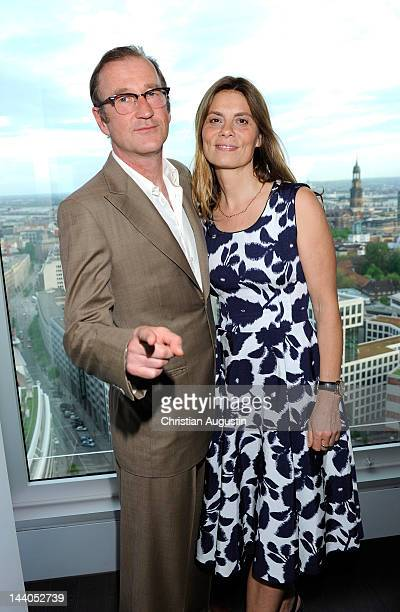 Sarah Wiener and Peter Lohmeyer attend 'Emotion Award 2012' at Emporio Tower on May 8 2012 in Hamburg Germany