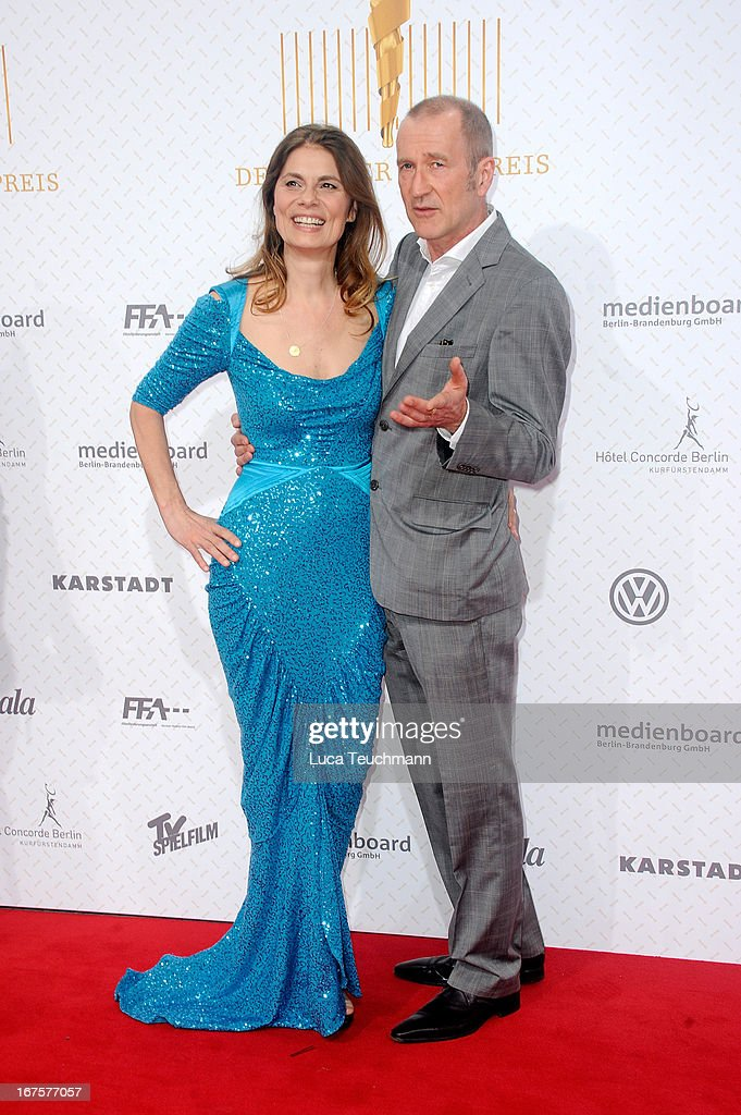 Sarah Wiener and Peter Lohmeyer attend the Lola German Film Award 2013 at Friedrichstadtpalast on April 26, 2013 in Berlin, Germany.