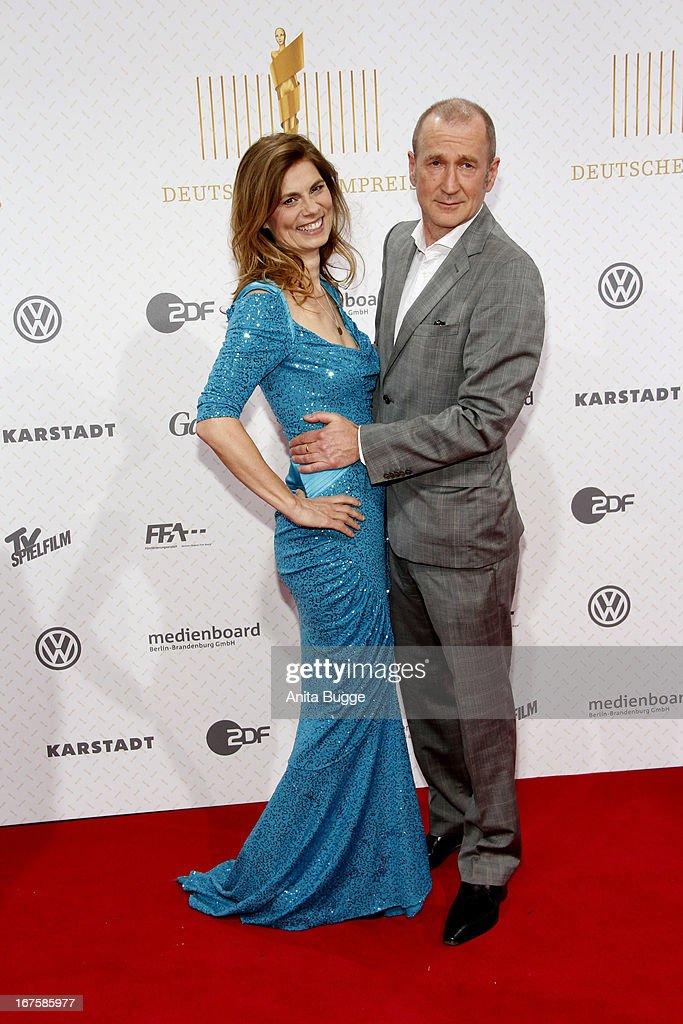 Sarah Wiener and Peter Lohmeyer attend the Lola German Film Award 2013 at Friedrichstadtpalast at Friedrichstadt-Palast on April 26, 2013 in Berlin, Germany.