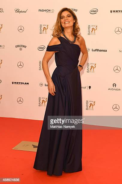 Sarah Wiener arrives at the Bambi Awards 2014 on November 13 2014 in Berlin Germany