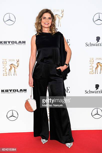 Sarah Wiener arrives at the Bambi Awards 2016 at Stage Theater on November 17 2016 in Berlin Germany