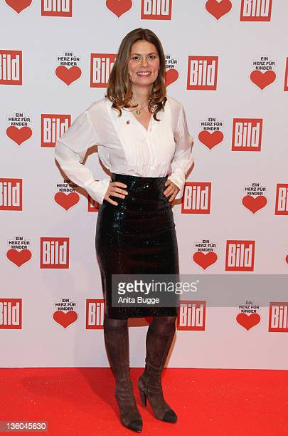 Sarah Wiener arrives for the 'Ein Herz fuer Kinder' Charity Gala on December 17 2011 in Berlin Germany