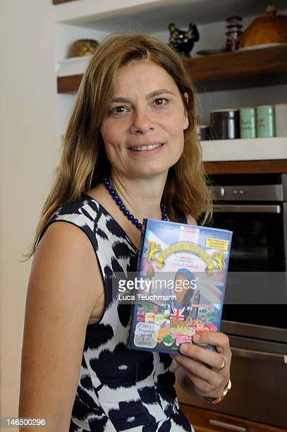 Sarah Wiener attends Photocall for her book 'Die Kulinarischen Abenteuer Der Sarah Wiener In Gross Britannien' at Speisezimmer on June 18 2012 in...