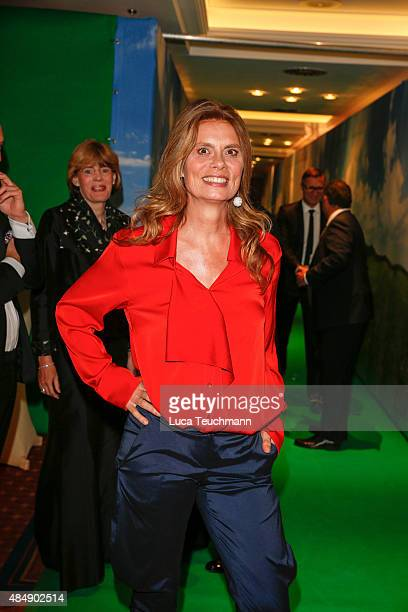 Sarah Wiener attends the 8th GRK Golf Charity Masters Leipzig gala at The Westin Leipzig on August 22 2015 in Leipzig Germany