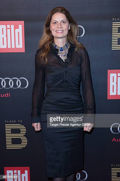 Sarah Wiener attends the BILD 'Place to B' Party at Grill Royal on February 8 2014 in Berlin Germany
