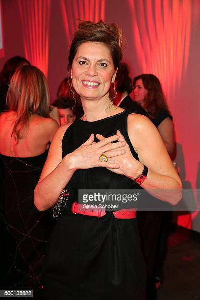 Sarah Wiener attends the Ein Herz Fuer Kinder Gala 2015 reception at Tempelhof Airport on December 5 2015 in Berlin Germany