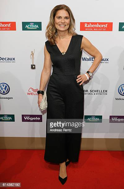 Sarah Wiener attends the 'Goldene Bild der Frau' award at Stage Theater on October 13 2016 in Hamburg Germany