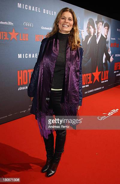 Sarah Wiener attends the Hotel Lux Premiere at CineStar on October 26 2011 in Berlin Germany