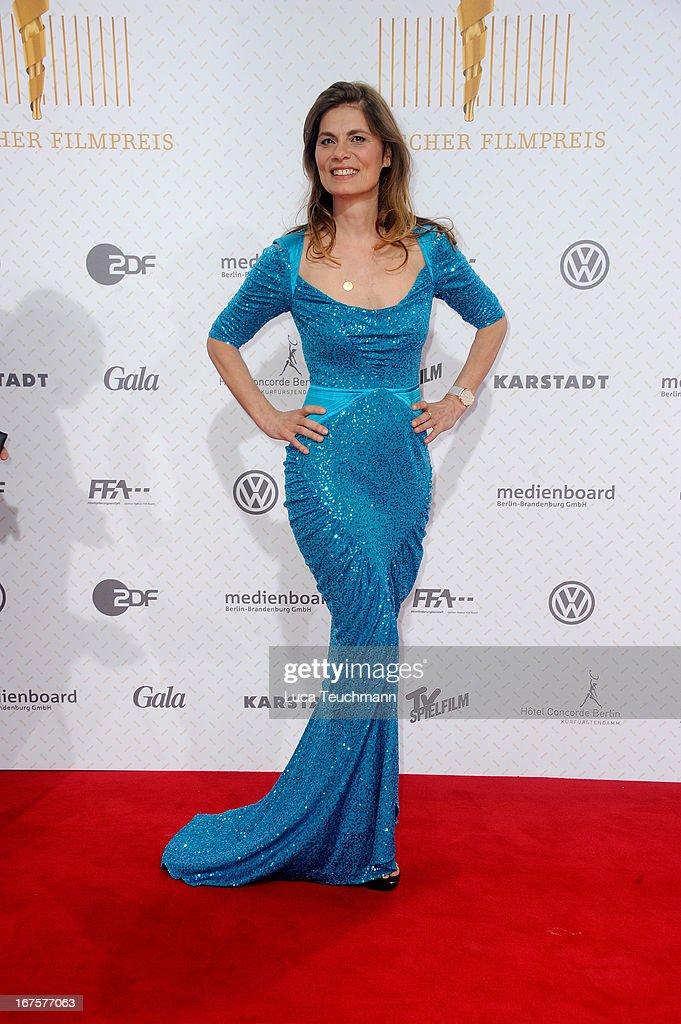 Sarah Wiener attends the Lola German Film Award 2013 at Friedrichstadtpalast on April 26, 2013 in Berlin, Germany.