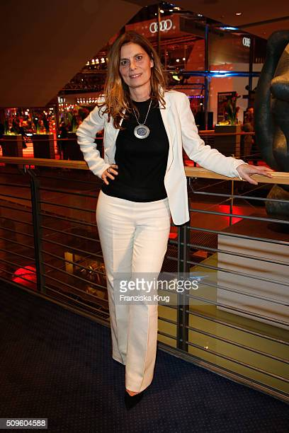 Sarah Wiener attends the opening party of the 66th Berlinale International Film Festival Berlin at Berlinale Palace on February 11 2016 in Berlin...